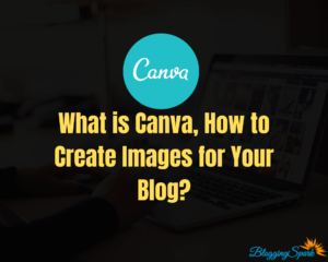 Canva image editing tool to create blog images