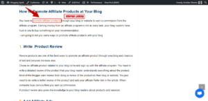 Internal Linking Pages