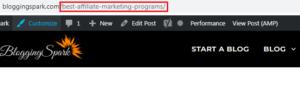 Targeted Keyword in URL