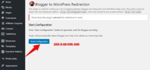 get blogger to wordpress redirection code