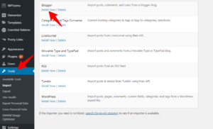 install blogger impoter in-wordpress