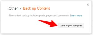 save blogger file