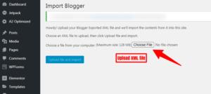 upload xml file in wordpress