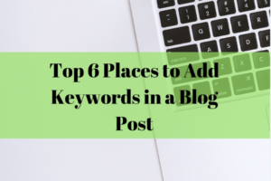 top places to add keywords