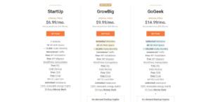 Siteground Pricing Plans