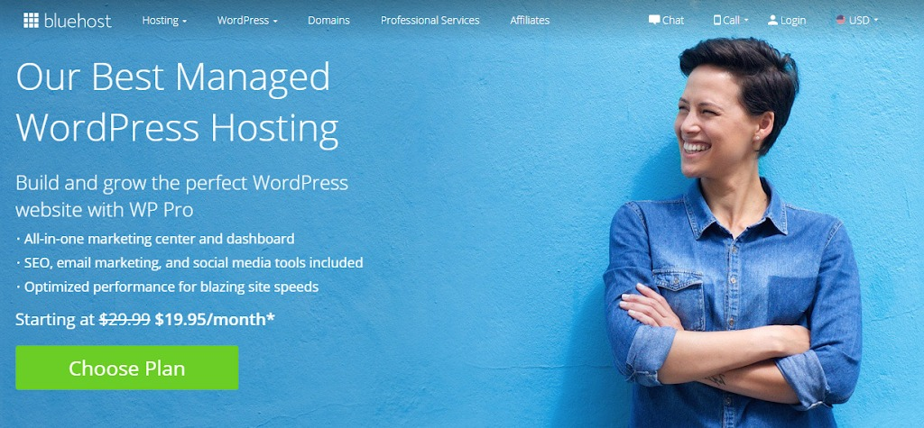 bluehost wp hosting