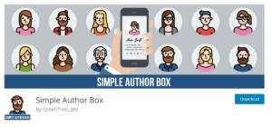 simple author box plugin