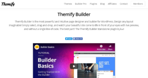 themify page builder plugin