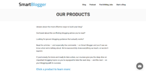 Smart blogger course page