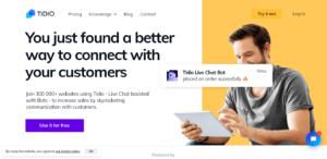 tidio live chat plugin for wordpress