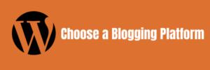 choose blogging platform