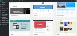 Select Theme in wordpress