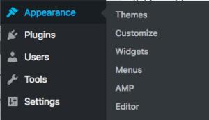 navigate wordpress themes