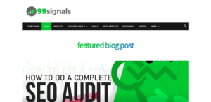 99Signals best blog to learn blogging