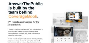 AnswerThePublic content ideas tool