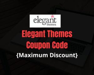 Elegant Themes Coupon Discount
