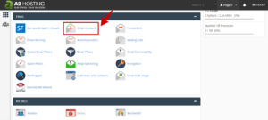 email accounts in cpanel