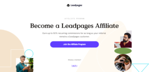 Leadpages Affiliate Partner Program