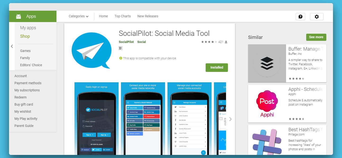 Socialpilot Android app