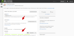 create a email in cpanel