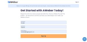 AWeber SignUp