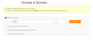 register domain on a2hosting