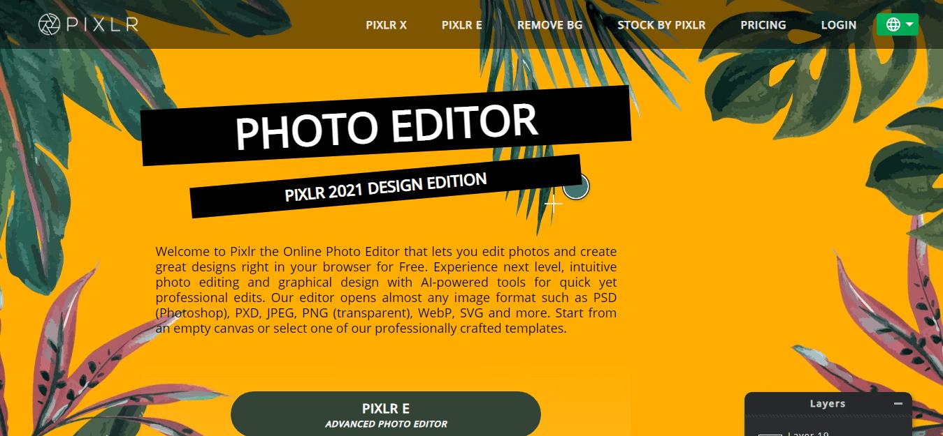 Pixler Photo editor online