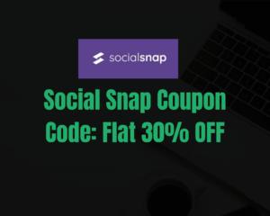 Social Snap Coupon Code 2020