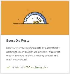 Social Snap Boost Old Posts