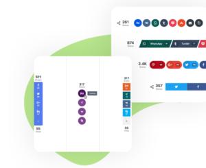 Social Snap Buttons Design
