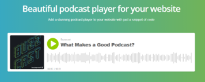 Buzzsprout podcast player
