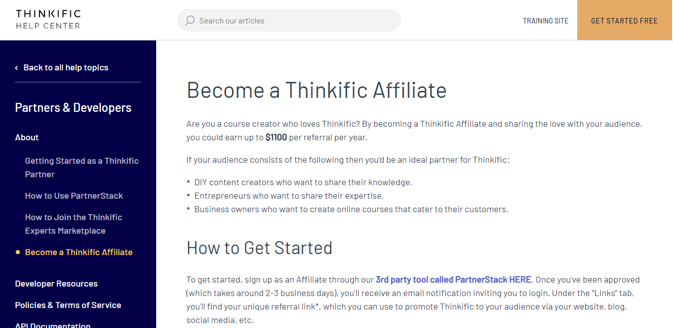 Become a Thinkific Affiliate