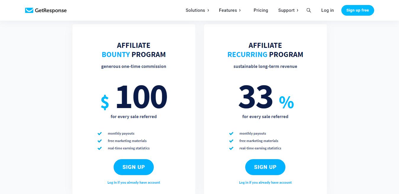 GetResponse Affiliate Programs