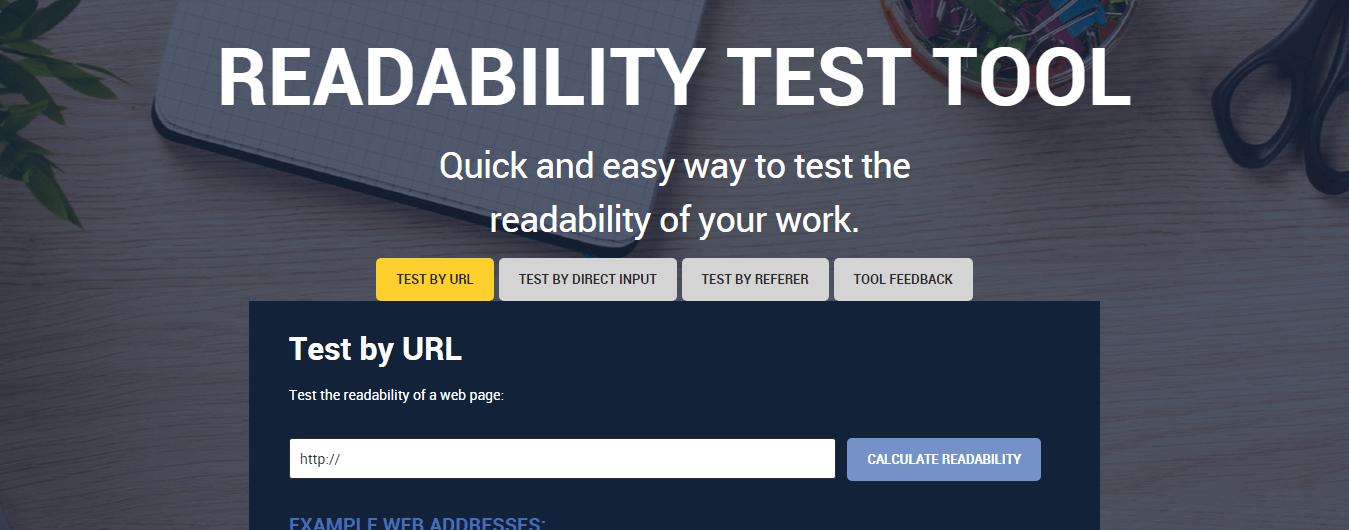 Readablity test tool