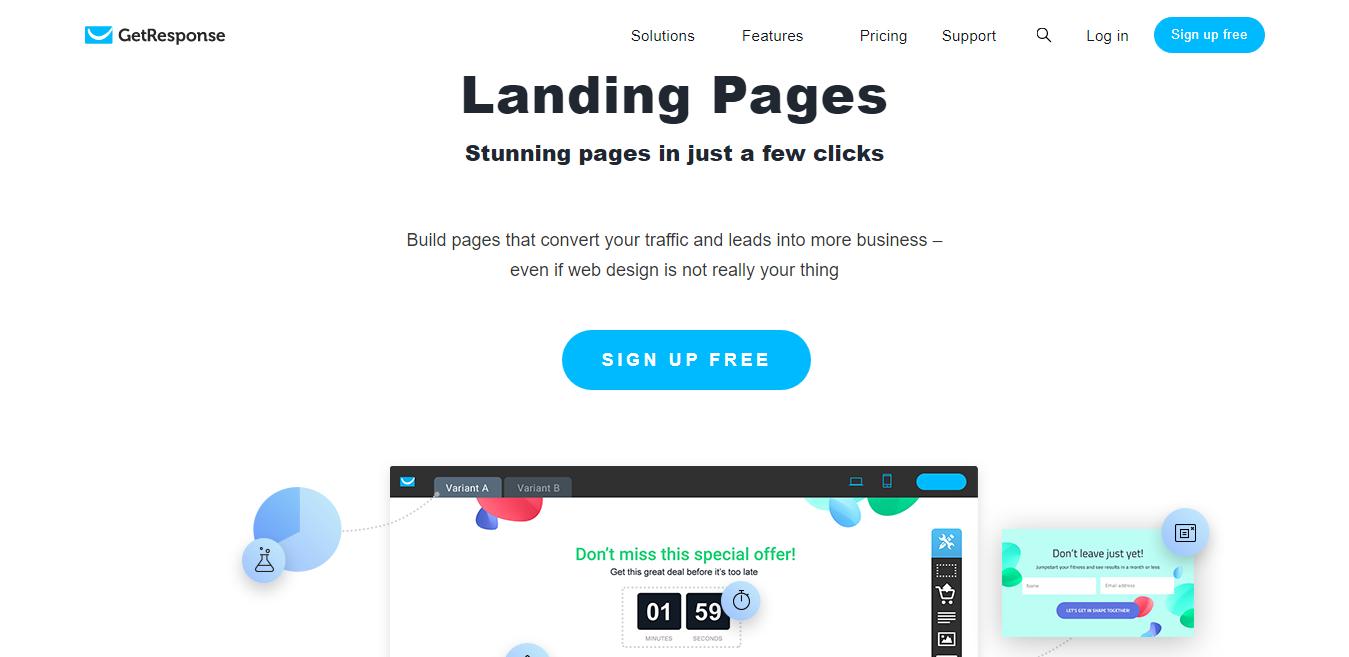 Landing Page Creator GetResponse