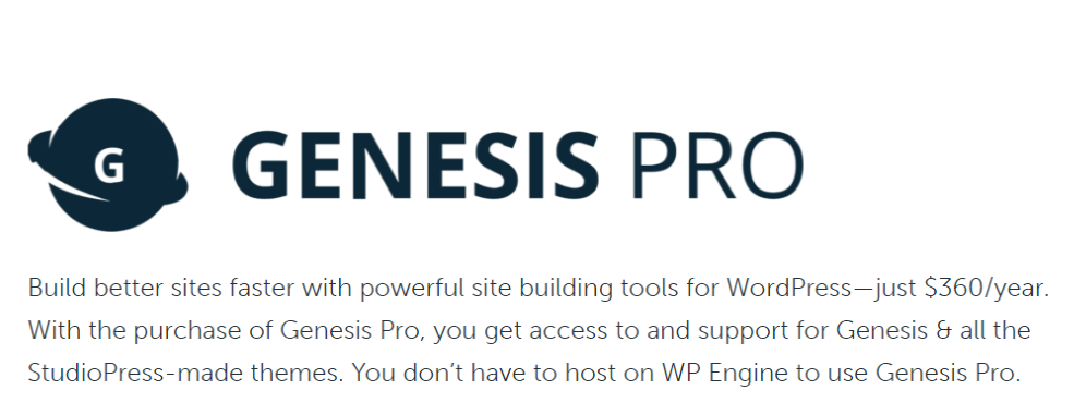Genesis Pro StudioPress Black Friday Deal
