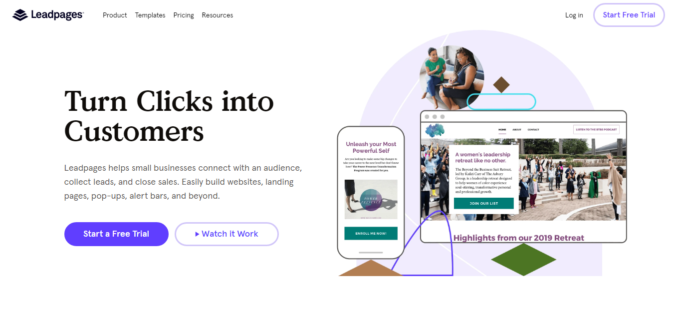 Leadpages home