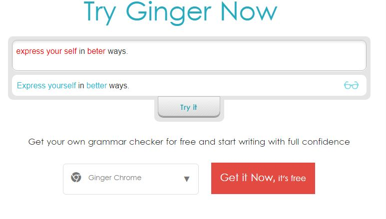 ginger grammar tool