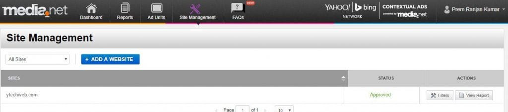 media.net site management