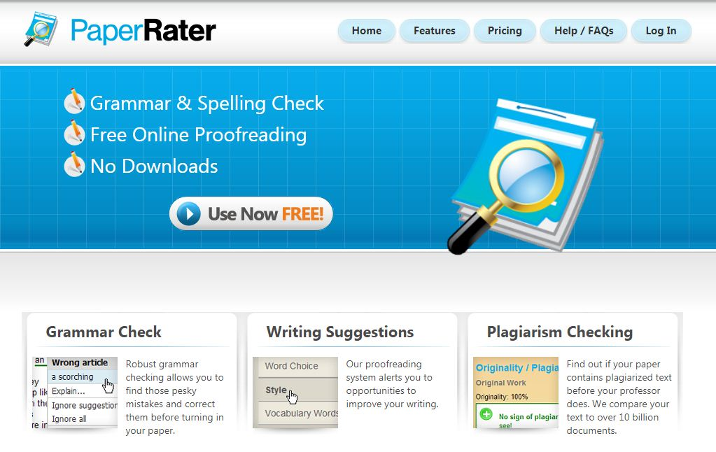 paperrater writing tool