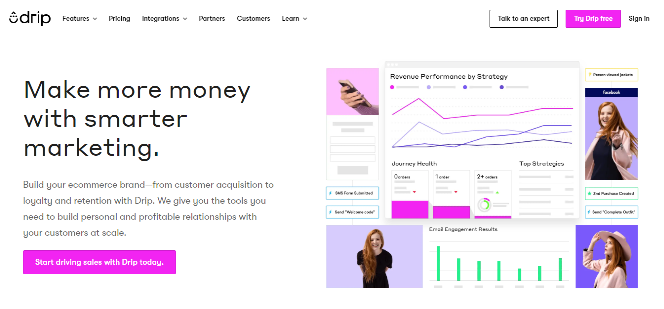 Drip Ecommerce Emal Marketing Tool