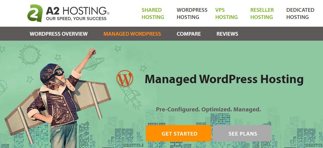 best wordpress hosting a2hosting