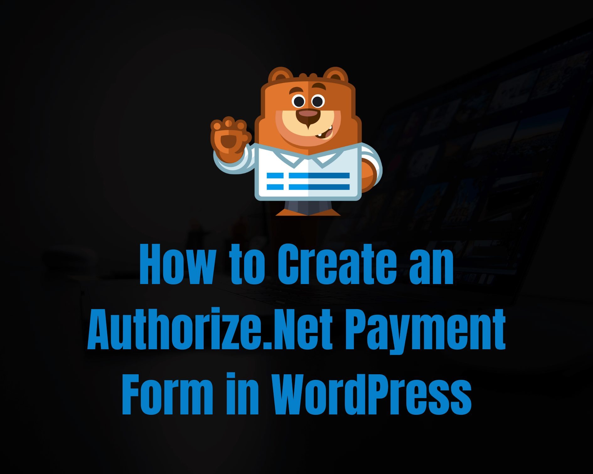 Authorize net payment form in wordpress
