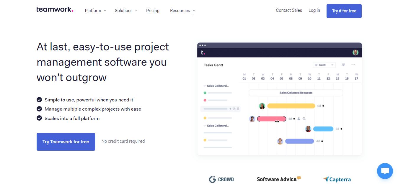 Teamwork Team Managemet Software