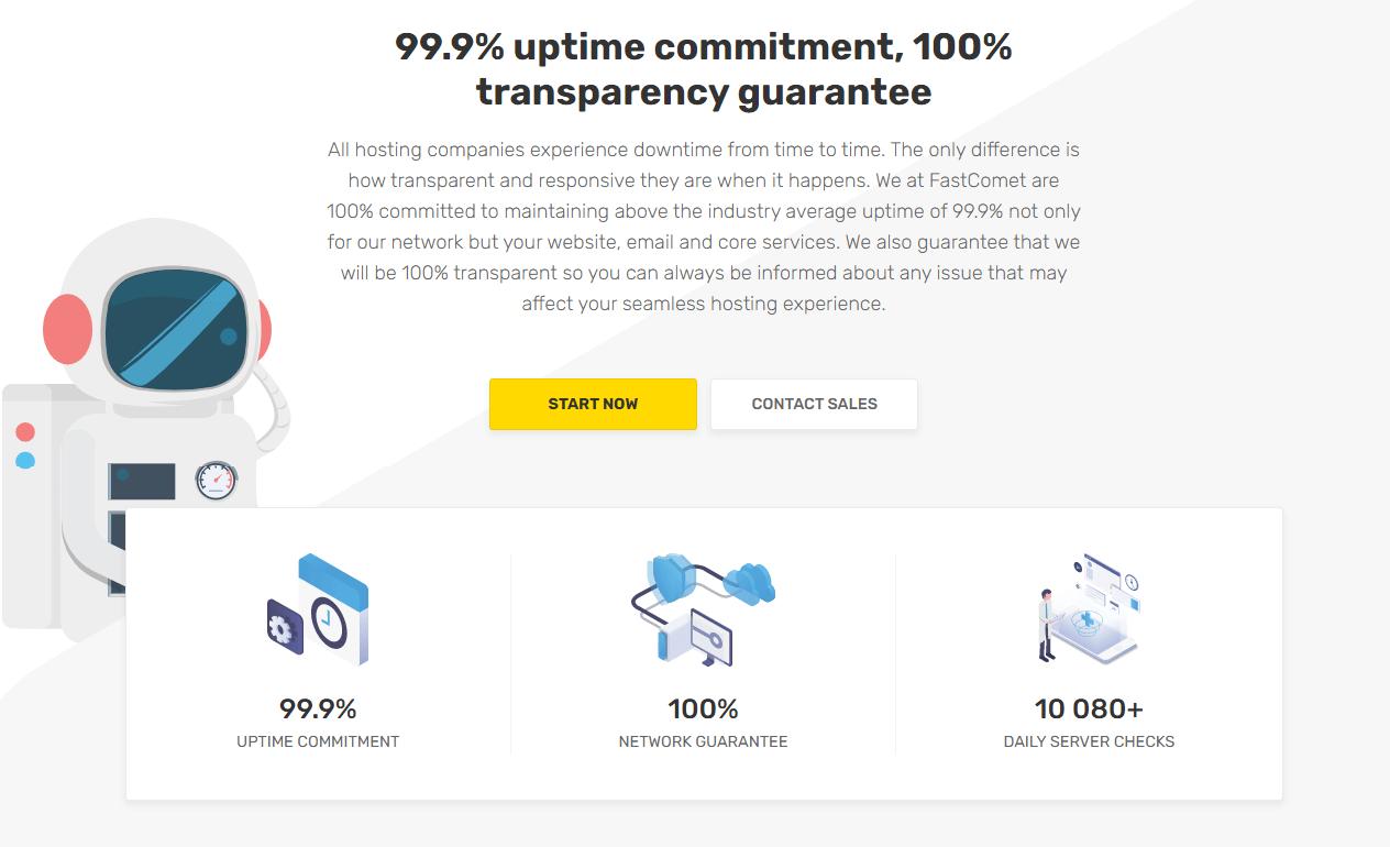 FastComet uptime