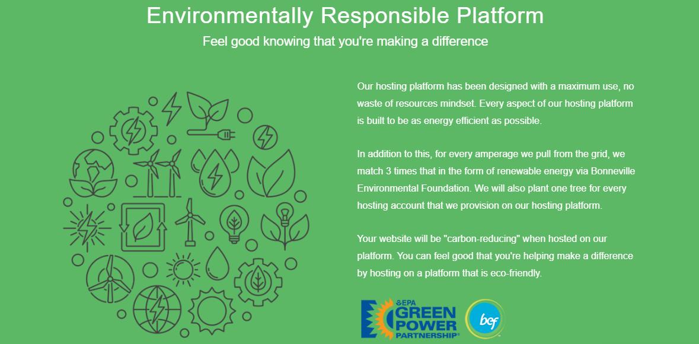 GreenGeeks Eco Friendly Hosting