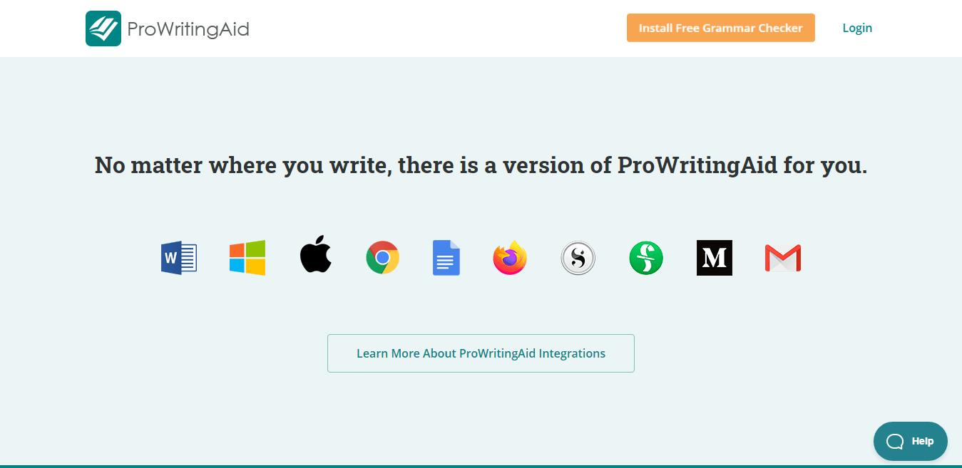 ProWritingAid Integrations