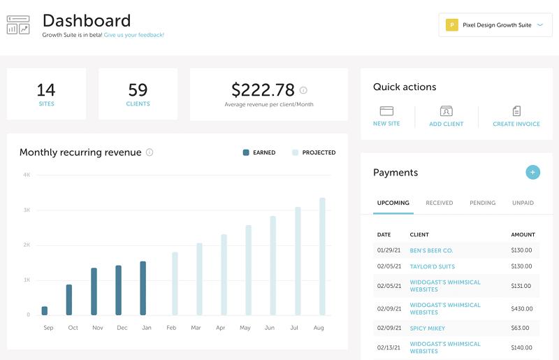 flywheel growth suite dashboard