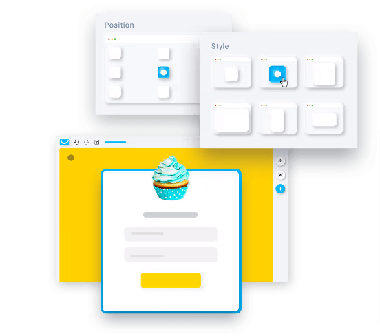 getresponse website builder-popups and signup forms